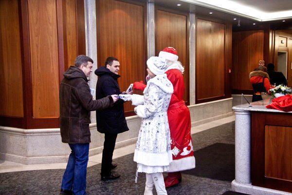 Дед мороз поздравление для сотрудников